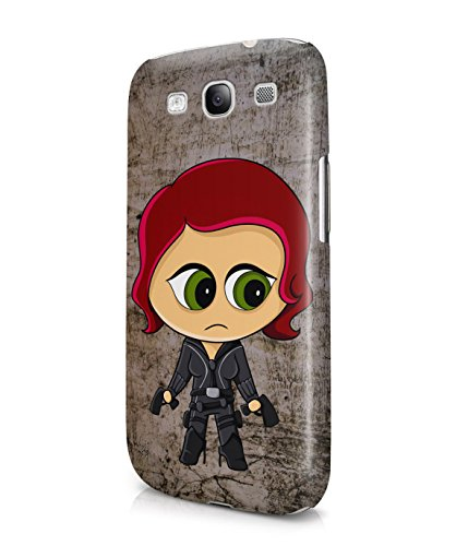 Chibi Black Widow The Avengers Plastic Snap-On Case Cover Shell For Samsung Galaxy S3