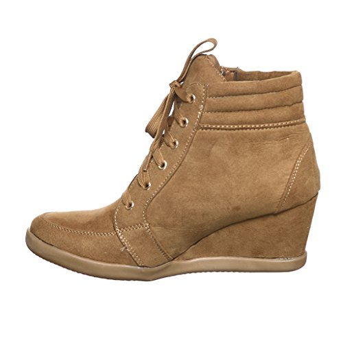 Sneakers Women's Top Tan56 Fashion Wedge Pl up Lace shoewhatever Hi 6TwxqUnF88