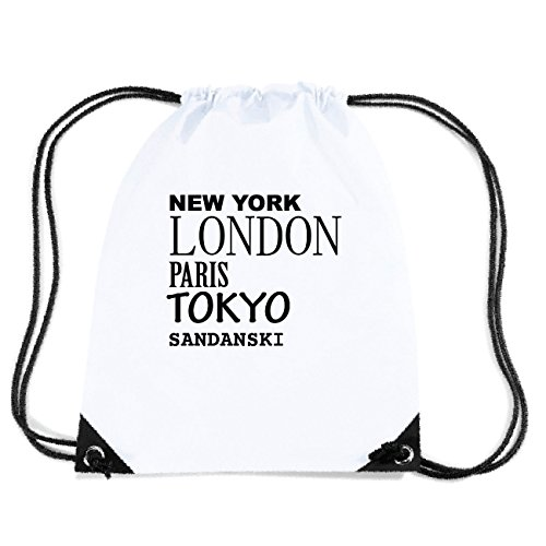 JOllify SANDANSKI Turnbeutel Tasche GYM3841 Design: New York, London, Paris, Tokyo
