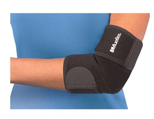 Mueller Adjustable Elbow Neoprene, Black, Fits