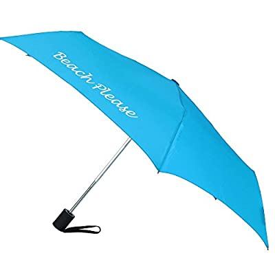 ShedRain Women's Auto Open and Close Beach Please Compact Umbrella delicate