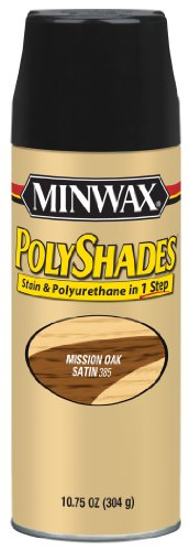 yshades - Stain & Polyurethane in 1 Step, 10.75 ounce Spray, Mission Oak, Satin (Spray Wood Stain)