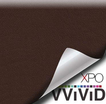 VViViD Brown Weatherproof Faux Leather Finish Marine Vinyl Fabric (1.5ft x -