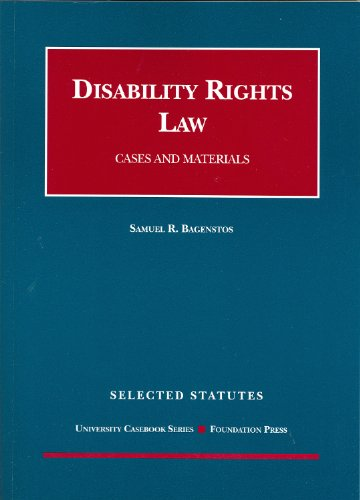 Disability Rights Law, Selected Statutes