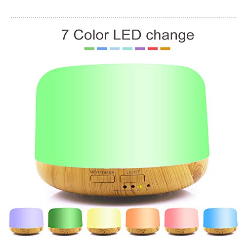 Aroma Essential Oil Diffuser 300ml,Aromatherapy Scented Oil Diffuser Vaporizer Humidifier for Home, Spa, Baby Room, - Vaporizer Cigarette Replacement