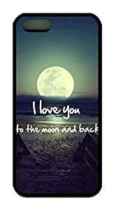 Generic I Love You To The Moon And Back Characteristic Quote Theme Case Cover for iPhone 6 (4.7 Inch Screen)
