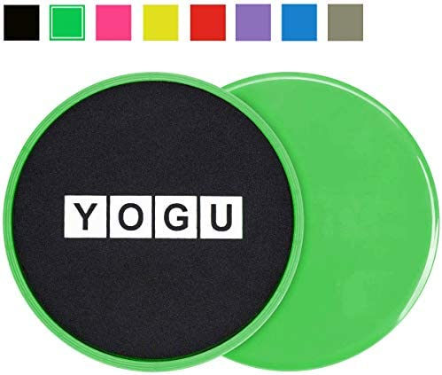 YOGU Core Fitness Sliders Dual Sided Strength Slides for Any Surface Perfect Abdominal Workout Exercise Sliders Set of 2 Gym Gliders Discs