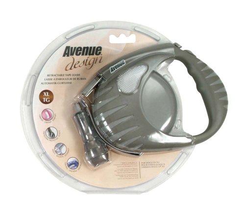 Avenue Design Retractable Tape Leash for Dogs, Gray, X-Large, 19 (Avenue Leash)