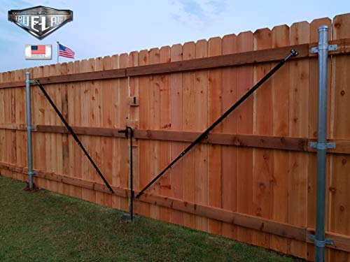 True Latch Telescopic Fully Adjustable Gate Brace - Wood Privacy Fence Anti  Sag Gate Kit - Extends to 8' Feet - Gate Hardware Kit for Outdoor Yard