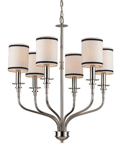 Trump Home Tribeca 6-Light Chandelier in Polished Nickel - Tribeca 6 Light Chandelier