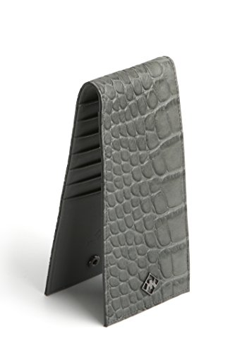 Custom Slim Wallet Python The Alligator Skin or Luxurious Patterned KAKTUS Genuine Calf Grey gX1wqCavx