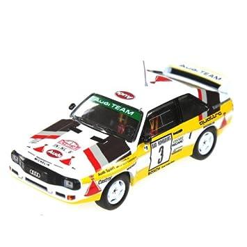 Audi deportes quattro, No.3, HB Audi equipo, Rally Monte Carlo , 1985, Modelo de Auto, modello completo, Minichamps 1:43: Amazon.es: Coche y moto
