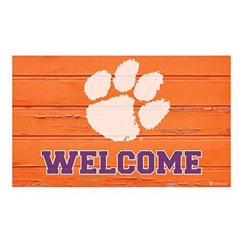 - FANOUFLAGE University Icon Welcome Mat – NCAA Officially Licensed Home Décor (Clemson Orange)