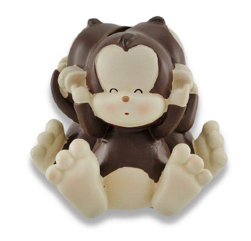 (Baby Monkey See, Speak, Hear No Evil Coin Bank 4.5 In. by Zeckos)