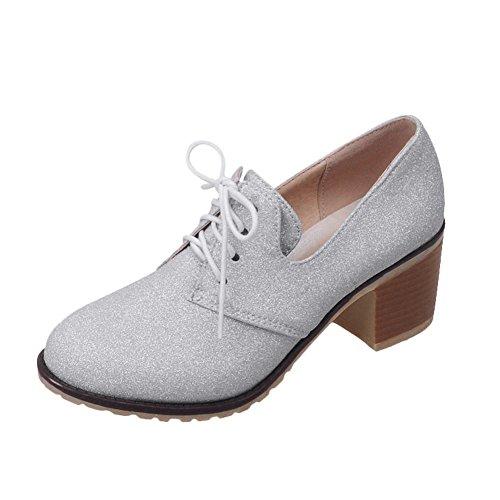 Show Shine Womens Graceful High Heel Ankle High Oxfords Shoes Grey FYxZo3B