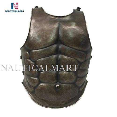 (NAUTICALMART Medieval Armor Muscle Breastplate, Cuirass, Body Armour, Roman, Greek, SCA, LARP, Halloween)