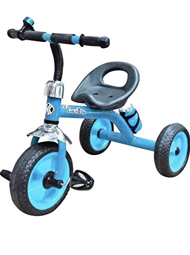 TUYU Tikes n Tots Tricycle Ride on Bicycle, Metal Body, 3 6 Years  Blue