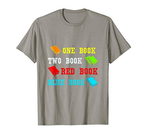 One Book Two Book Red Book Blue Book T-Shirt