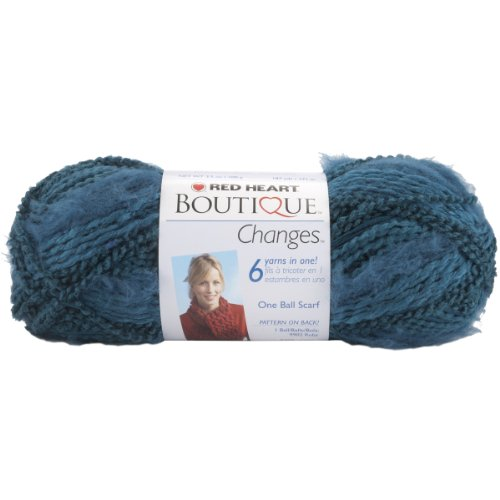 (Coats: Yarn Red Heart Boutique Changes Yarn, Aquamarine)