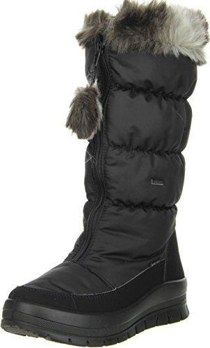 Vista Womens Snow Boots Winter Boots Black Black - Black