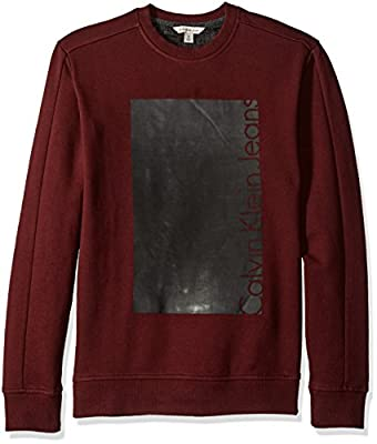 Calvin Klein Jeans Men's Ck Box Logo Knockout Crew Neck Sweatshirt
