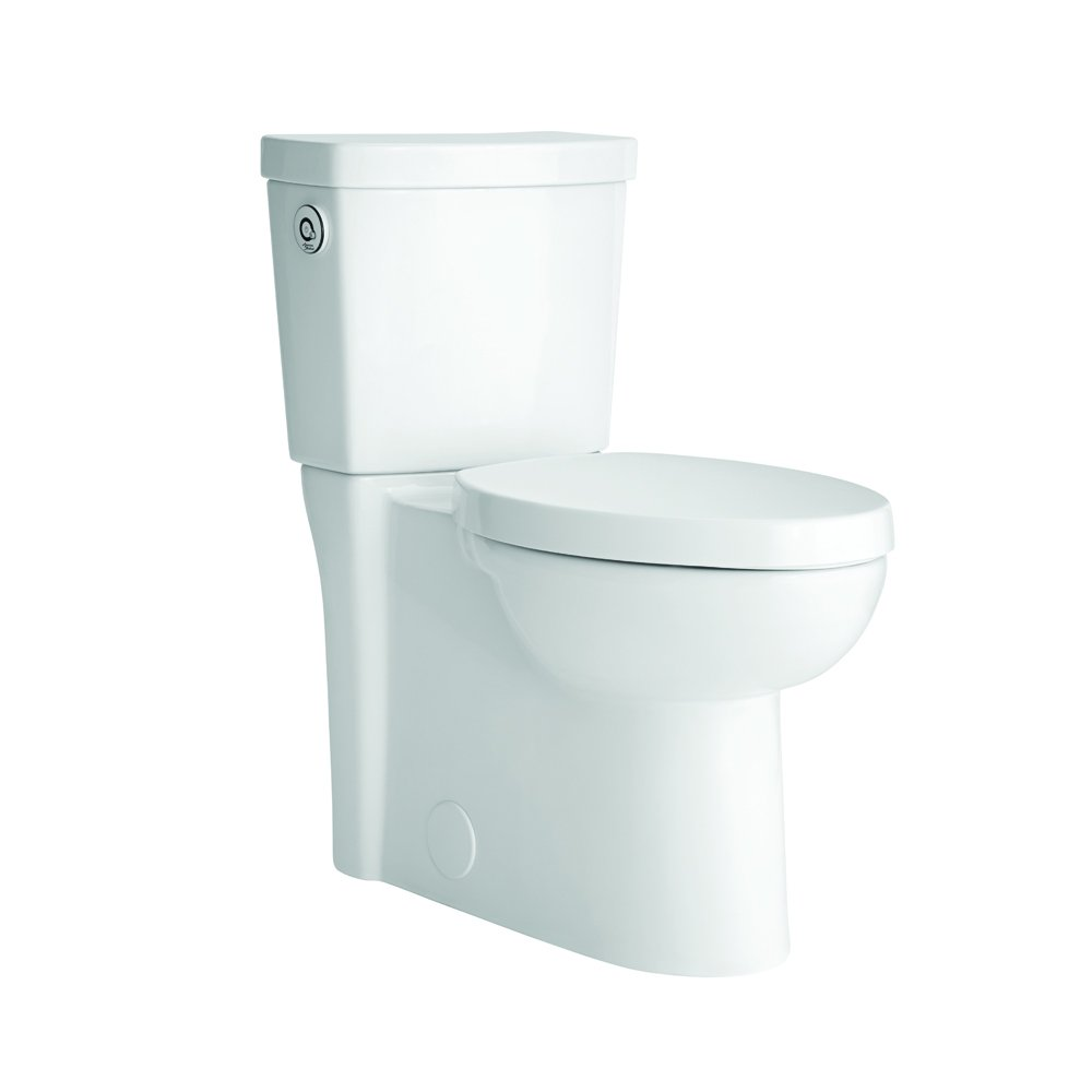 American Standard 2794119.020 Studio Activate Touchless Right Height Elongated Concealed Trapway 1.28 GPF Toilet (2 Piece), White