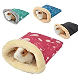 PER Plush Small Animal Sleeping Bag Pouch Winter Soft Warm Bed House Cage Nest for Hamster Guinea Pig Hedgehog Rat Chinchillas (Color Randomly)