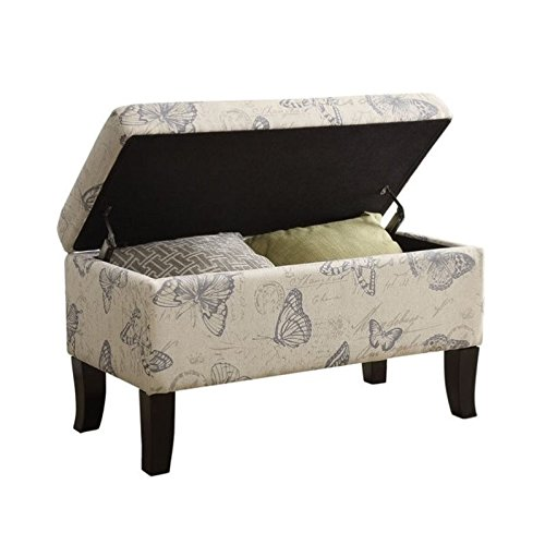 Convenience Concepts Designs4Comfort Winslow Storage Ottoman, Butterfly Fabric (Storage With Console Table Ottomans)