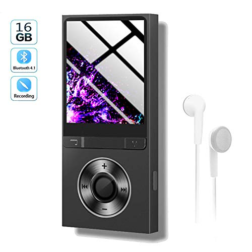 Mp3 Player with Bluetooth 16GB,Upgraded Lossless Sound Sport Music Player with FM Radio/Voice Recorde/E-Book/Photo Viewer,Expandable Up to 128GB