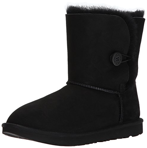 UGG Girls K Bailey Button II Fashion Boot, Black, 6 M US Big Kid by UGG