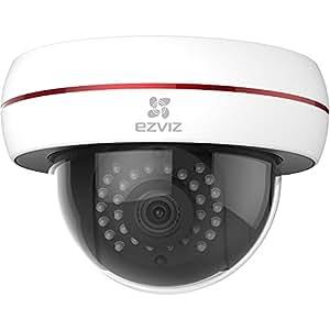 EZVIZ Husky Dome HD 1080p Outdoor Wi-Fi Video Security Camera, Works with Alexa