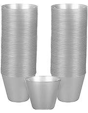 Amscan 350366.18 Plastic Cups, 9 oz, Silver