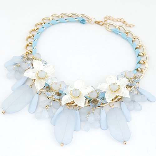 Wo-dreams Sweet Alady Lily False Collar,Exquisite Topgrade Short Necklace