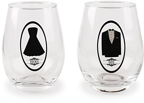 Circleware 77062 Stemless Wine Glasses, Set of 2 Drinking Glassware for Water, Juice, Beer, Liquor and Best Selling Kitchen & Home Decor Bar Dining Beverage Gifts, 18.5 oz Review
