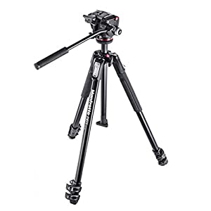 Manfrotto MK190X3-2W 190 Aluminum 3 Section Tripod Kit with MHXPRO-2W Fluid Head