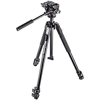 Manfrotto MK190X3-2W 190 Aluminum 3 Section Tripod Kit with MHXPRO-2W Fluid Head (Black)