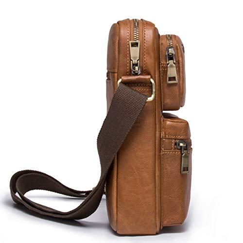 Hombres Los Ocasionales Moda bags Scsy La Cuero Clásicos Bolso Bandolera Brown De qXfxyZFOw