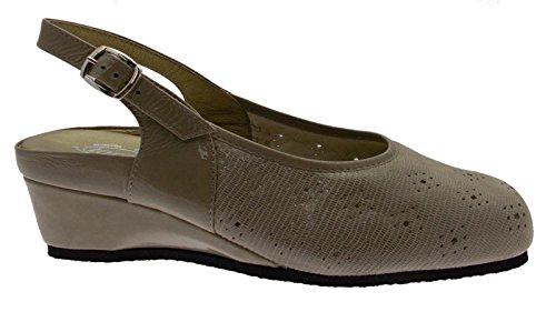 Sandale cerrada art L8060, extragrande, color gris