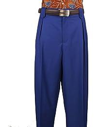 Mens Wide Leg Pants Wool col. Royal Blue Art. 5551038