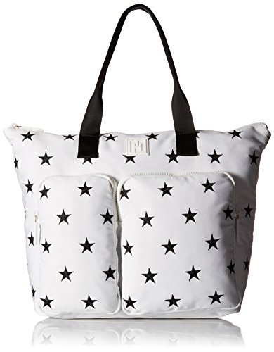 Tommy Hilfiger Th Sport Star Tote Top Handle Bag White/black One Size Th Sport Star Tote
