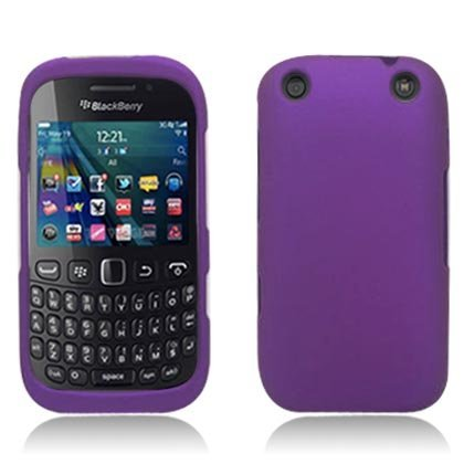 PCLP014 Rubber Essentials Slim and Durable Rubberized Case for BlackBerry Curve 9310 - Retail Packaging - Purple ()