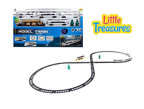 Little Treasures City Bullet Train for Passengers Shuttle Race Down The Tracks Thru The Highways and Airport Down The Speedway - a Fun Toy for Children and Adults to Play