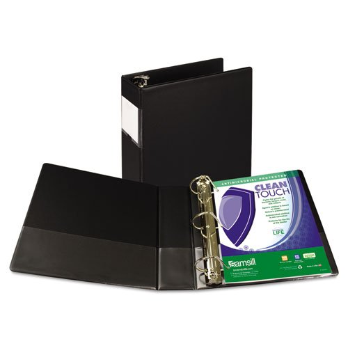 SAM16380 - Samsill Clean Touch Antimicrobial Locking D-Ring Binder by Samsill (Image #1)