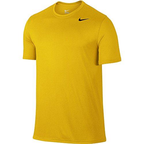 2 Sports Yellow T-shirt (NIKE Men's Dry Legend 2 Tee, University Gold/Black/Black, Small)