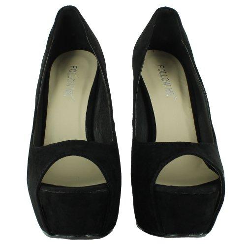 Footwear Sensation - punta abierta mujer negro - negro