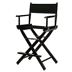 amazon com casual home 24 director s chair black frame with black