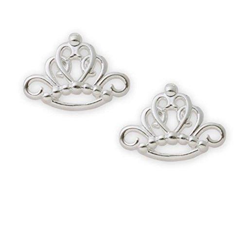 Disney Princess Tiara Sterling Silver Stud Earrings ()