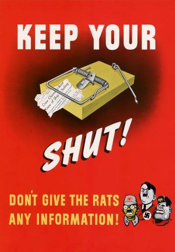 WB36 Vintage WW2 Keep Your Trap Shut WWII War Propaganda