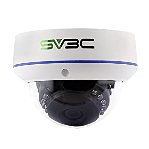 SV3C Full HD 1080P Dome POE IP Security Camera Indoor/Outdoor(Wired, not Wireless), Vandal-Proof, IP66 Waterproof, Support Remote Viewed by Iphone,Andriod Phone,Pad and Windows PC