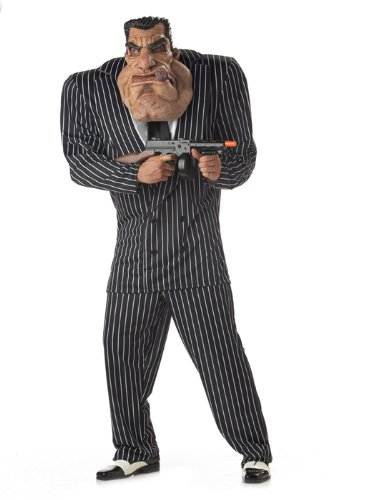 California Costumes Men's Adult-Massive Mobster, Black, XL (44-46) -